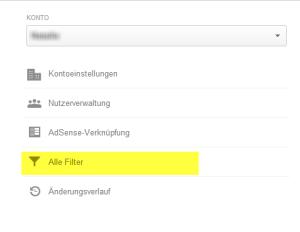 Google Analytics Filter Profil